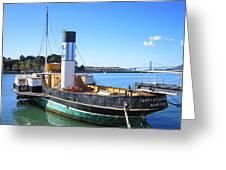The Eppleton Hall Paddlewheel Tugboat - 1914 Greeting Card by Daniel Hagerman