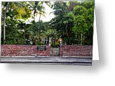 The Ernest Hemingway House - Key West Greeting Card by Bill Cannon
