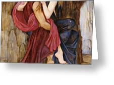 The Escape Greeting Card by John Roddam Spencer Stanhope