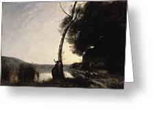 The Evening Star Greeting Card by Jean Baptiste Camille Corot