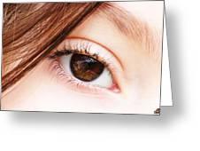 The Eye Greeting Card by Dheeraj B
