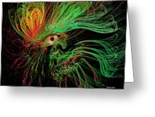 The Eye Of The Medusa Greeting Card by Angela A Stanton