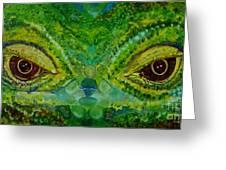 The Eyes Have It Greeting Card by Julie Brugh Riffey