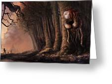 The Fabled Giant Women Of The Woods Greeting Card by Ethan Harris