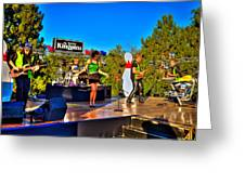 The Fabulous Kingpins Greeting Card by David Patterson