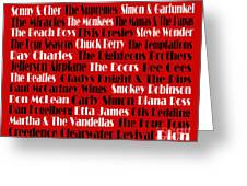 The Faces Of Rock And Roll 2  Greeting Card by Andee Design
