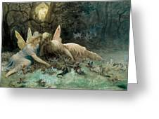 The Fairies From William Shakespeare Scene Greeting Card by Gustave Dore