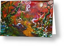 The Fairy Forest Greeting Card by Michelle Dommer