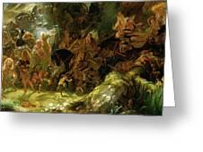 The Fairy Raid Greeting Card by Sir Joseph Noel Paton