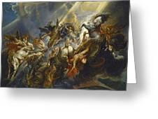 The Fall Of Phaeton Greeting Card by  Peter Paul Rubens