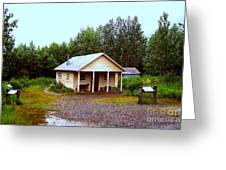 The Famous Cabin Of Fannie Quigley Greeting Card by Kathy  White