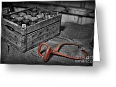 The Farmer's Milk Crate  Greeting Card by Lee Dos Santos