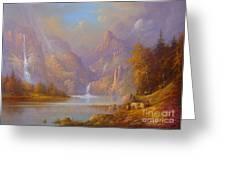 The Fellowship Doors Of Durin Moria.  Greeting Card by Joe  Gilronan