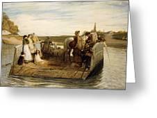 The Ferry Greeting Card by Robert Walker Macbeth