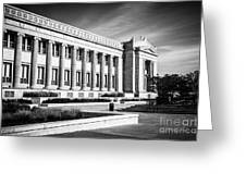 The Field Museum In Chicago In Black And White Greeting Card by Paul Velgos