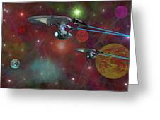 The Final Frontier Greeting Card by Michael Rucker