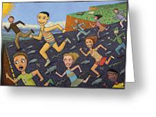 The Finish Line Greeting Card by James W Johnson