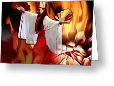 The Fire Bird Greeting Card by Maria Jesus Hernandez