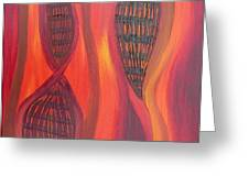 The Fire Molecule Greeting Card by Daina White