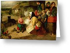 The First Break In The Family Greeting Card by Thomas Faed