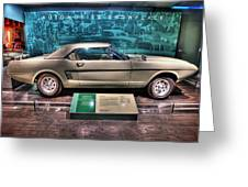 The First Mustang  Greeting Card by Nicholas  Grunas