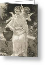 The First Whisper Of Love After Bouguereau Greeting Card by John Douglas Miller