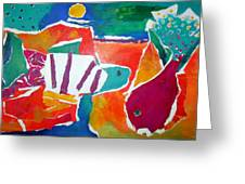 The Fish In The Sea Greeting Card by Diane Fine
