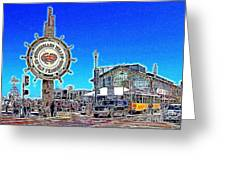 The Fishermans Wharf San Francisco California 7d14232 Artwork Greeting Card by Wingsdomain Art and Photography