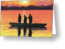 The Fishermen Greeting Card by SophiaArt Gallery