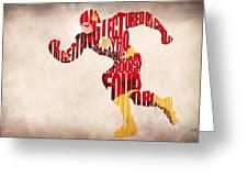The Flash Greeting Card by Ayse Deniz