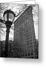 The Flatiron Building In New York City Greeting Card by Ilker Goksen