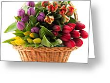 The Flower Basket Greeting Card by Boon Mee