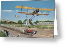 The Flying Circus Greeting Card by Kenneth Young
