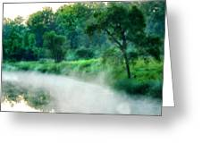The Foggy Lake Greeting Card by Kimberleigh Ladd