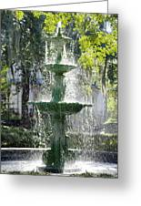 The Fountain Greeting Card by Mike McGlothlen