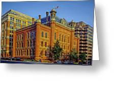 The Franklin School - Washington Dc Greeting Card by Mountain Dreams