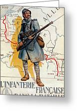 The French Infantry In The Battle Greeting Card by H Delaspre