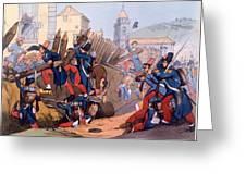 The French Legion Storming A Carlist Greeting Card by English School
