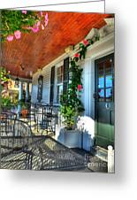 The Front Porch 2 Greeting Card by Mel Steinhauer