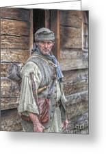The Frontiersman Greeting Card by Randy Steele