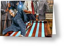 The Game Changers and Table runners Greeting Card by Reggie Duffie