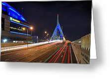 The Garden And The Zakim Greeting Card by Joann Vitali