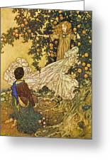 The Garden Of Paradise IIi Greeting Card by Edmund Dulac