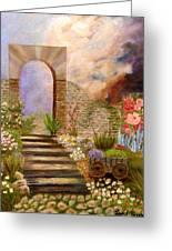 The Gate Greeting Card by Janis  Tafoya