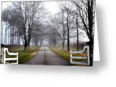 The Gates Are Always Open Greeting Card by Nina-Rosa Duddy