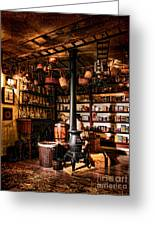The General Store In My Basement Greeting Card by Olivier Le Queinec