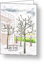 The Getty Center In Winter - Los Angeles - Ca Greeting Card by Carlos G Groppa