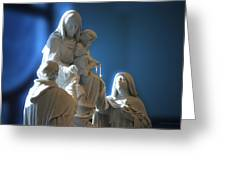 The Gift Of The Rosaries Statue Greeting Card by Thomas Woolworth