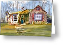 The Gingerbread House Greeting Card by Kris Parins