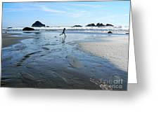 the Girl and the Ocean Greeting Card by Dona  Dugay